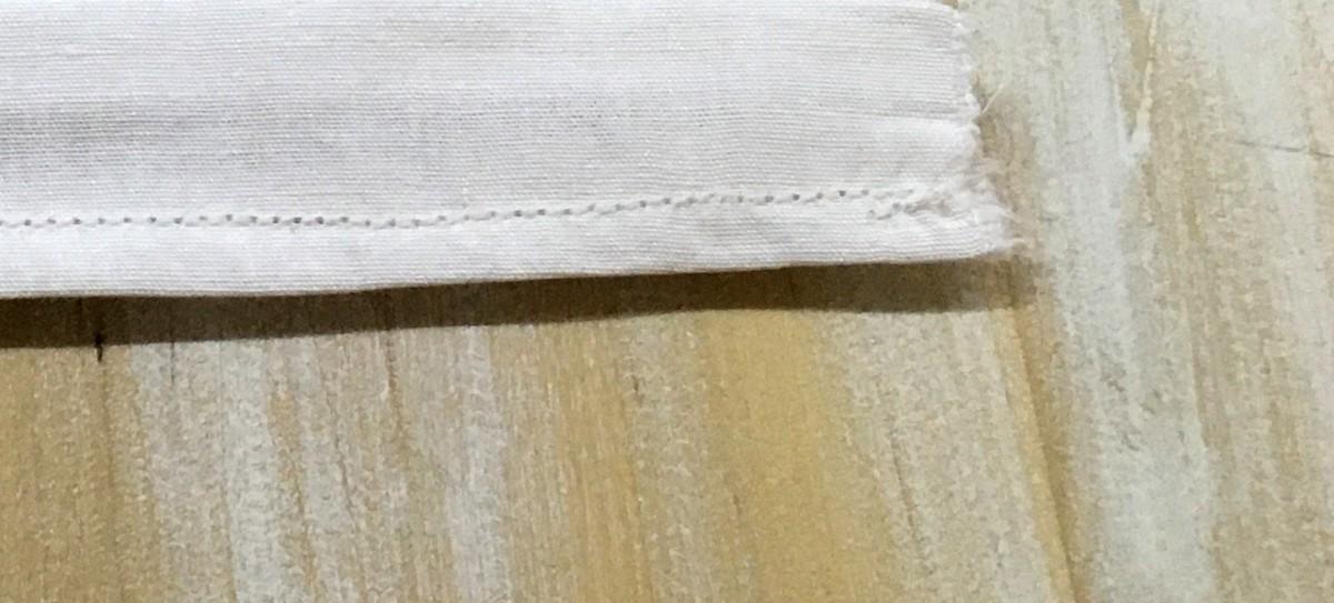 Šitie rúška – obšitie okrajov