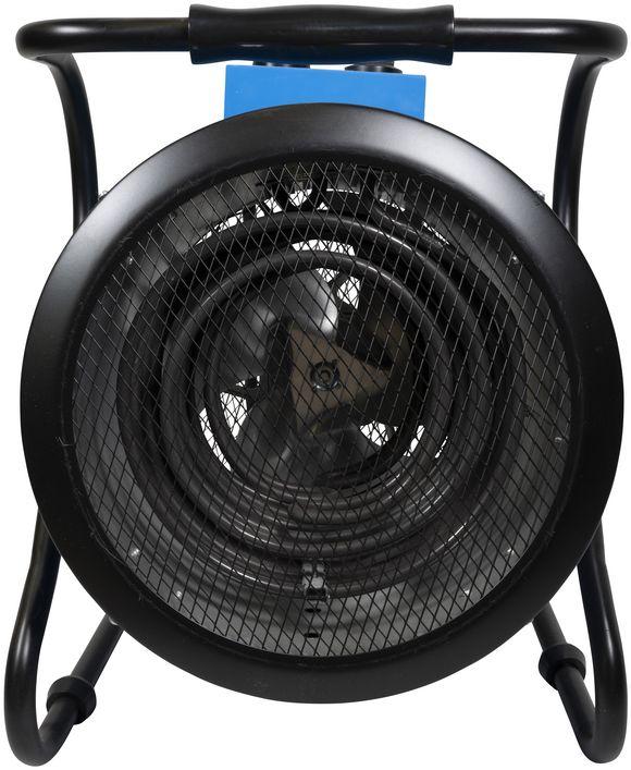 Odporové ohrievacie teleso v podobe izolovanej špirály v teplovzdušnom ventilátore