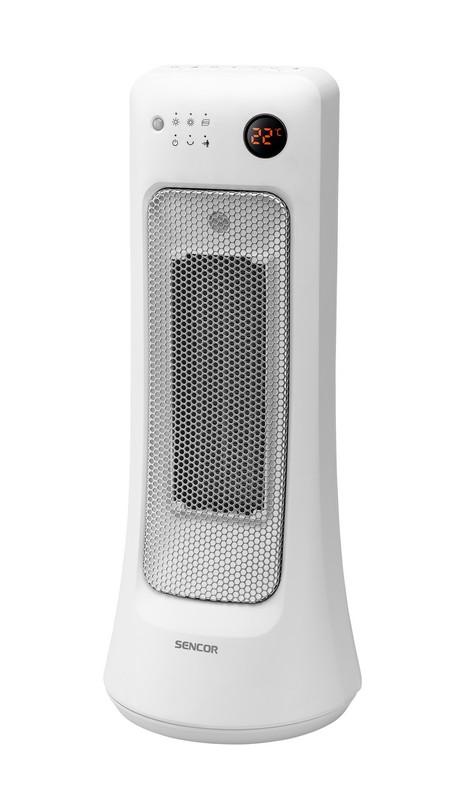 Teplovzdušný ventilátor Sencor SFH 8019WH – pohľad spredu