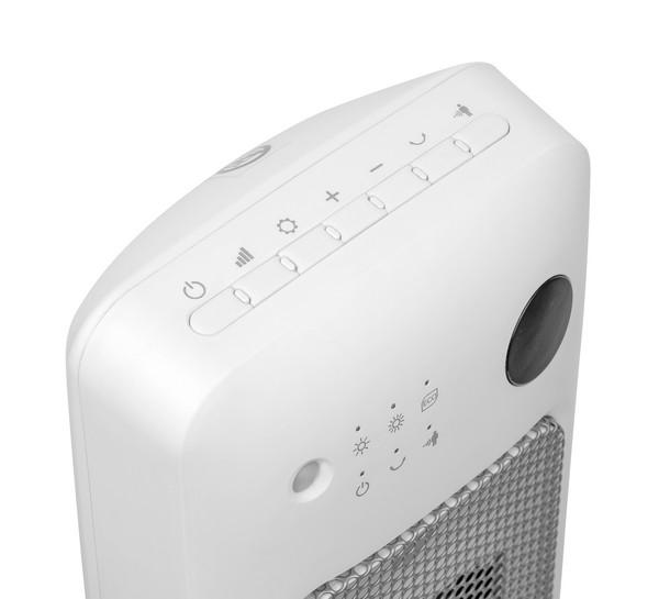 Teplovzdušný ventilátor Sencor SFH 8019WH – ovládací panel