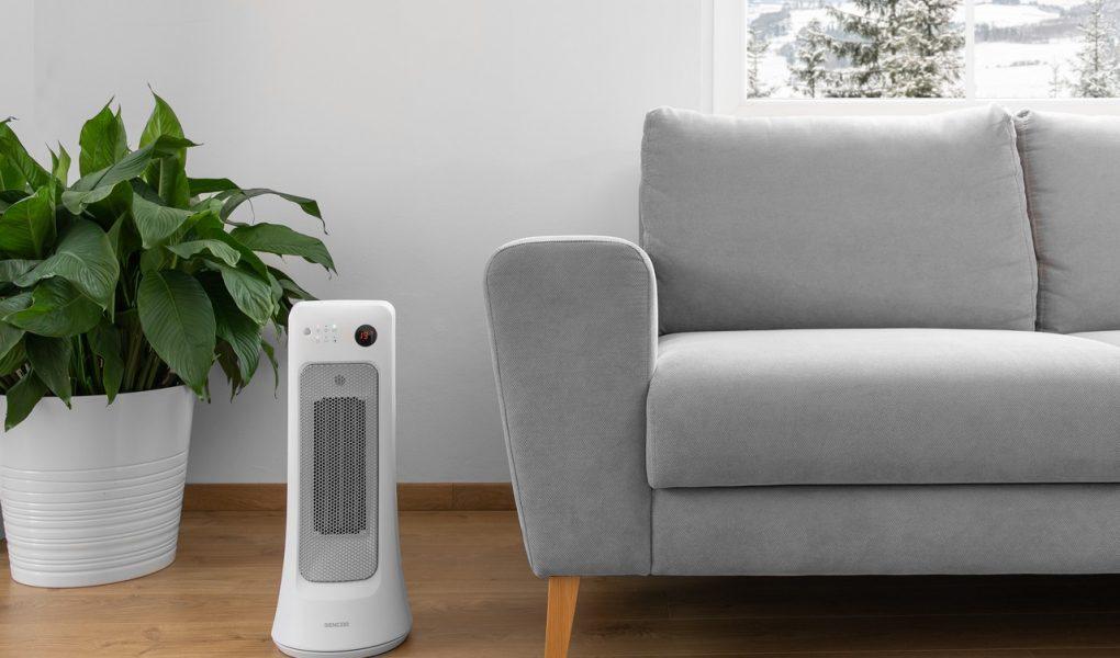 Teplovzdušný ventilátor Sencor SFH 8019WH v obývačke