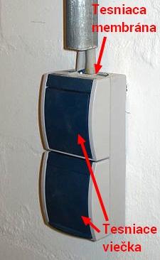 Dvojzásuvka na povrch s krytím IP44